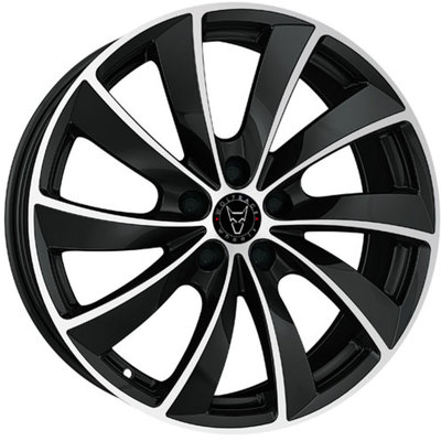 Wolfrace Eurosport Lugano Diamond Black Polished Alloy Wheels Image
