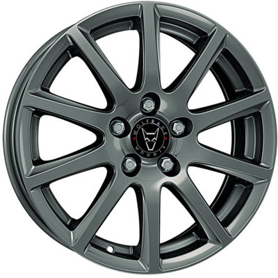 Wolfrace GB Milano Gloss Titanium Alloy Wheels Image