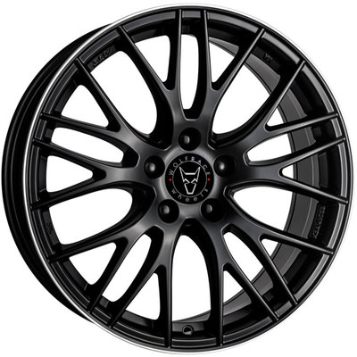 8x17 Wolfrace Eurosport Perfektion Gloss Black Polished Alloy Wheels Image