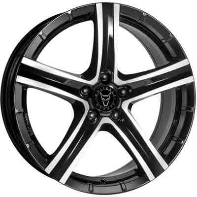 Wolfrace Eurosport Quinto Gloss Black Polished Alloy Wheels Image