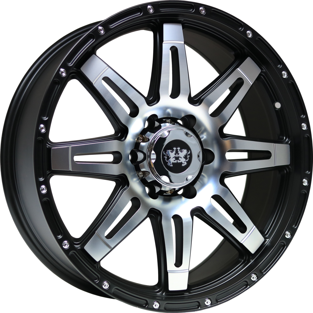 https://www.wolfrace.com/wp-content/uploads/2017/12/lionhart_lh3_satin_black_polished_face.png Alloy Wheels Image.