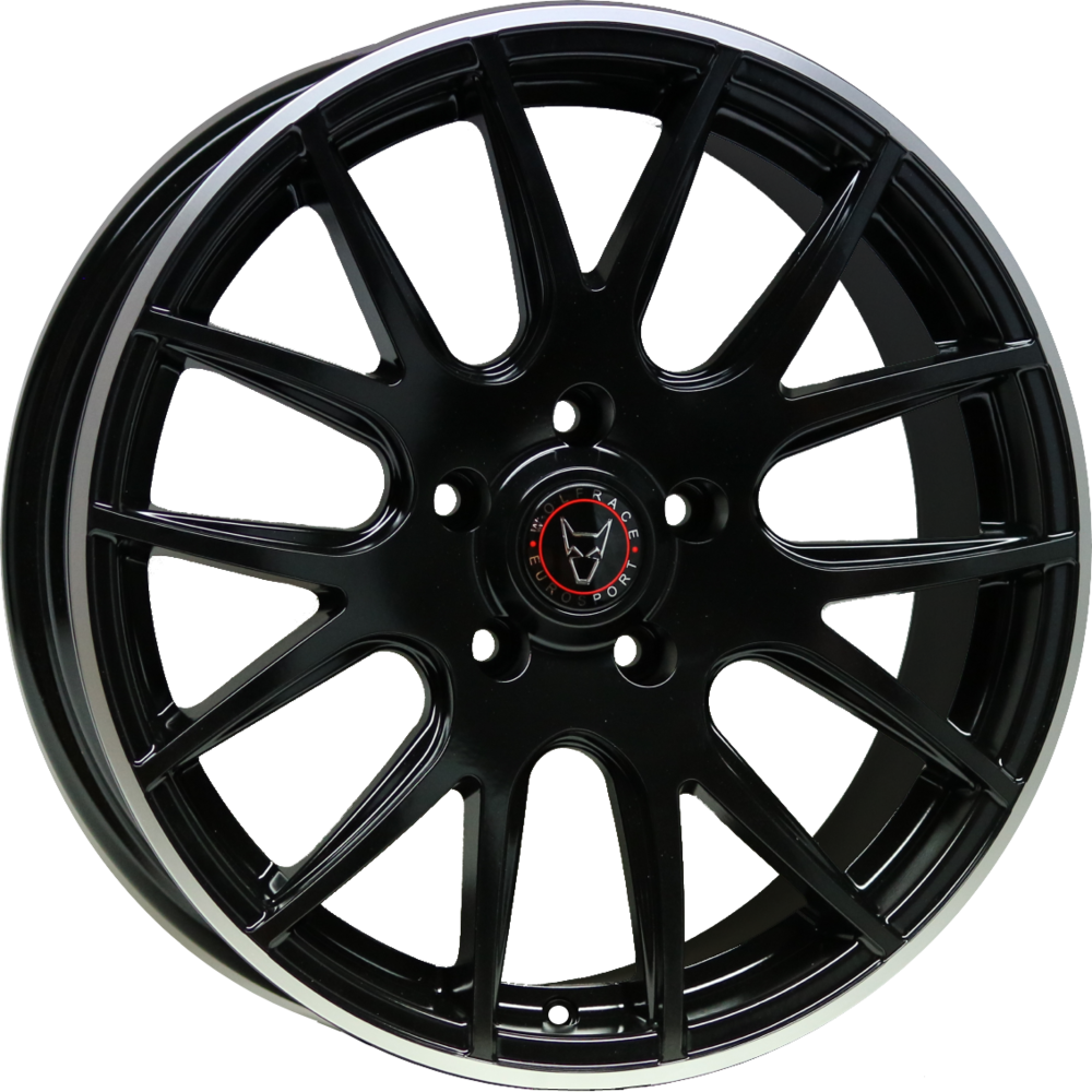 8.5x18 Wolfrace Eurosport Munich Matt Black Polished