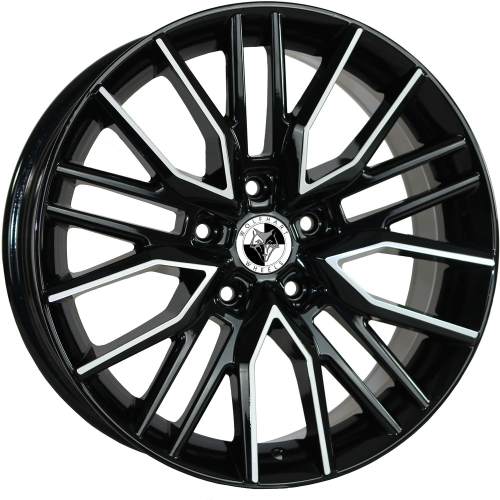 Large 8x18 Wolfhart Vortex Gloss Black Polished