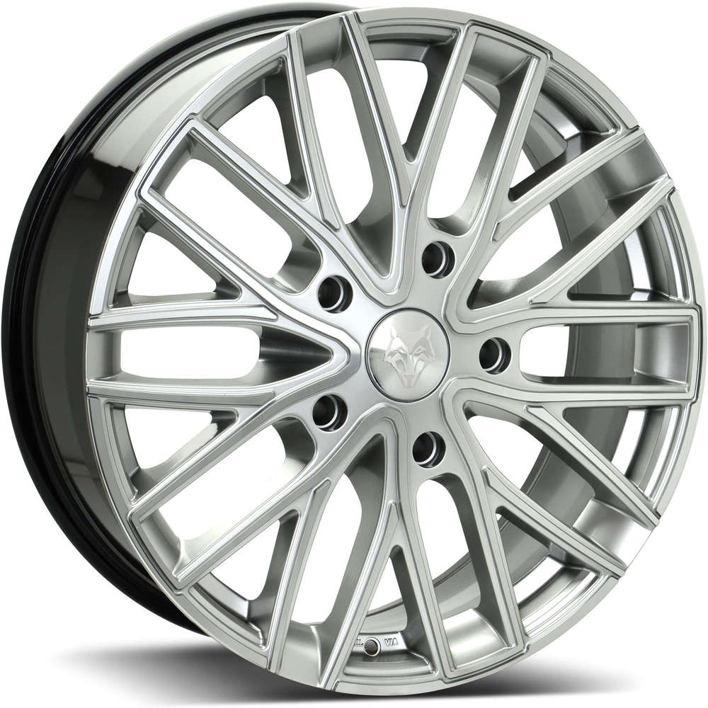 Large 8x20 Wolf Design GTR Hyper Silver Polished