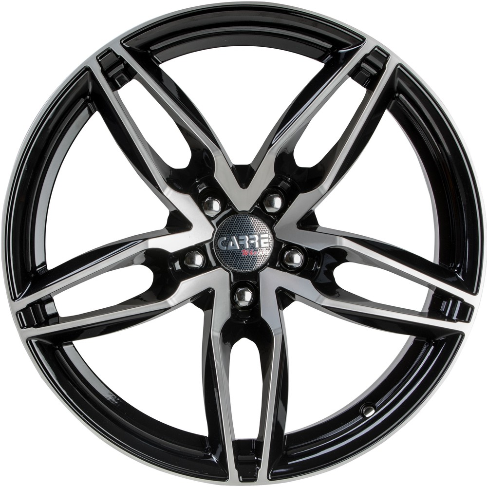 8.5x18 Wolfhart Primus Gloss Black Polished