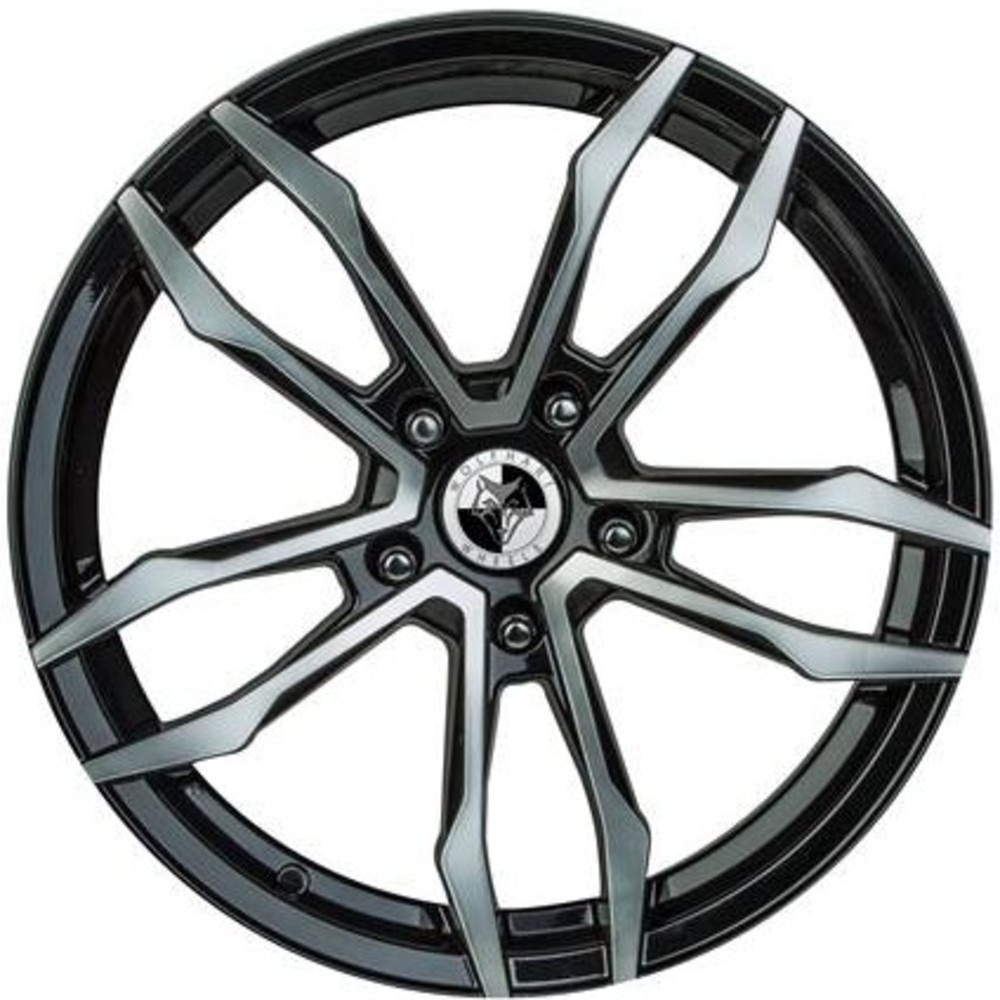 Large 8x18 Wolfhart VT5 Gloss Black Polished