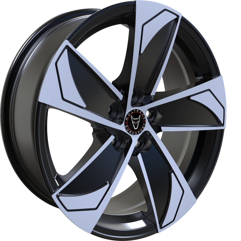 Large 8x18 Wolfrace Eurosport AD5 Gloss Black Polished