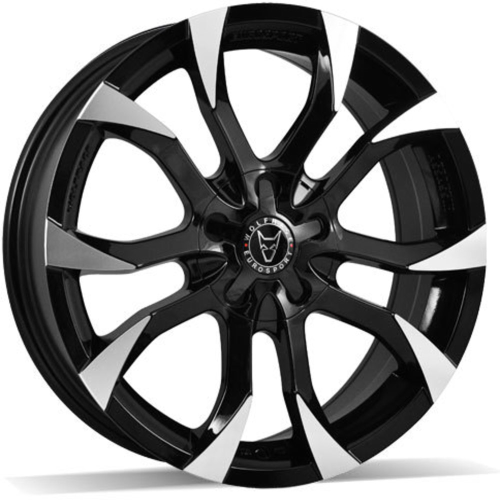Large 8x18 Wolfrace Eurosport Assassin Gloss Black Polished