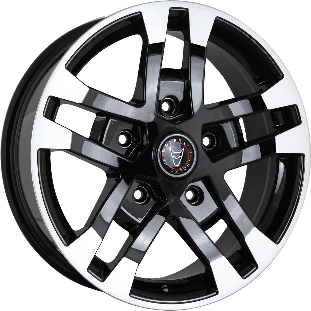 Large 8x18 Wolfrace Eurosport Assassin FTR Gloss Black Polished Tips