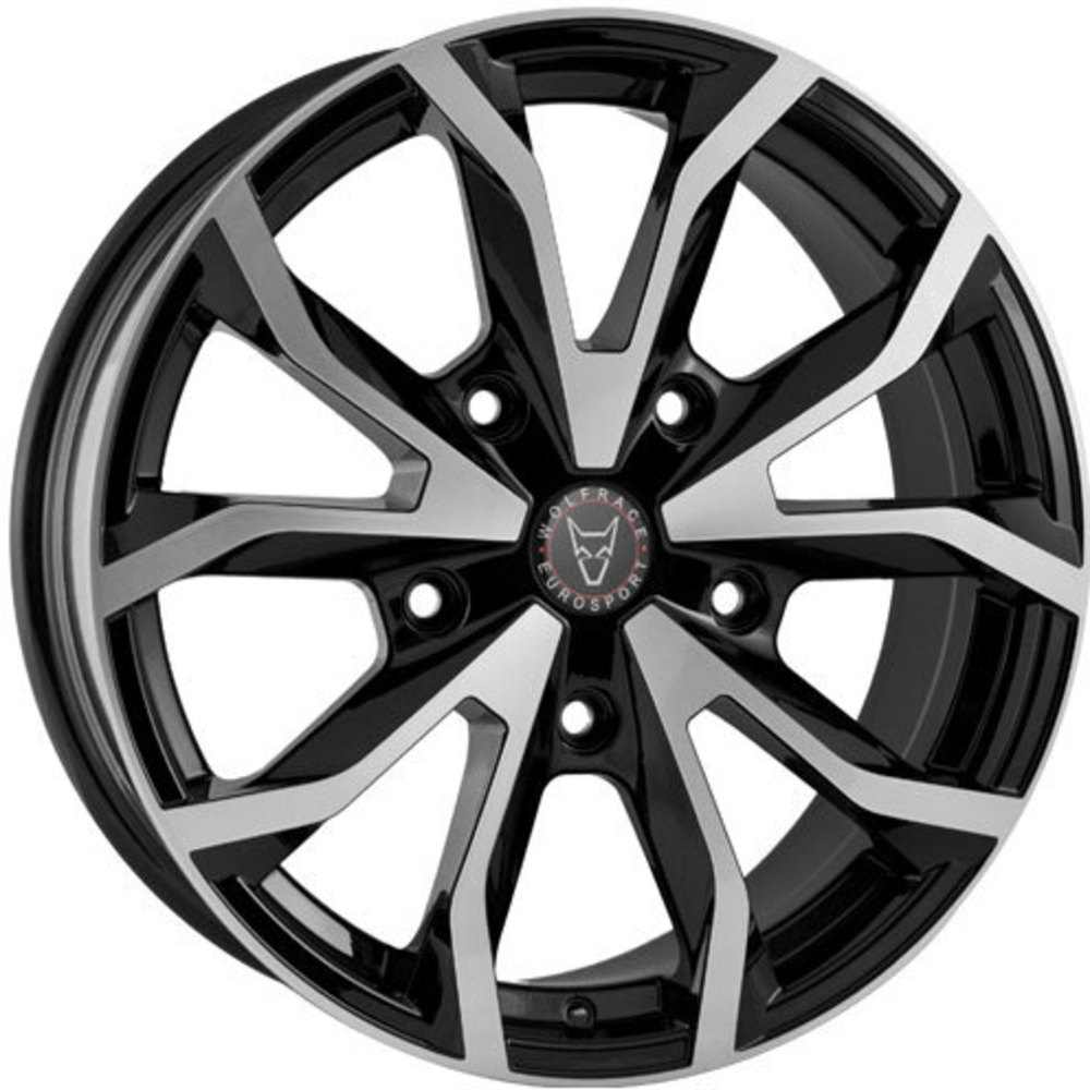 Large 8x18 Wolfrace Eurosport Assassin TRS Gloss Black Polished