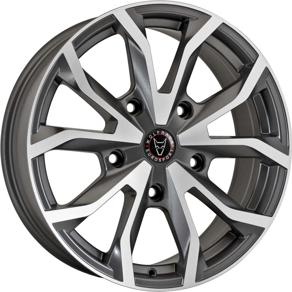Large 8x18 Wolfrace Eurosport Assassin TRS Gunmetal Polished