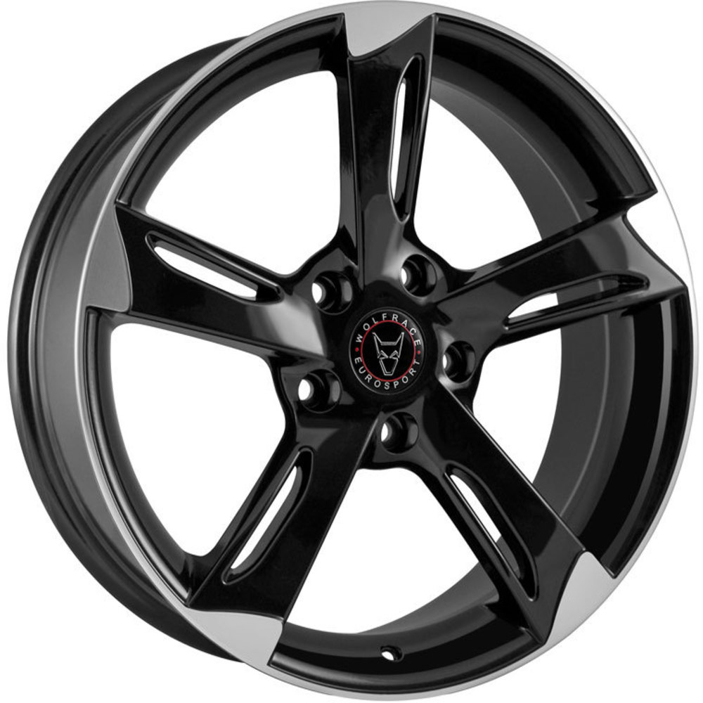 Large 8.5x18 Wolfrace Eurosport Genesis Gloss Black Polished