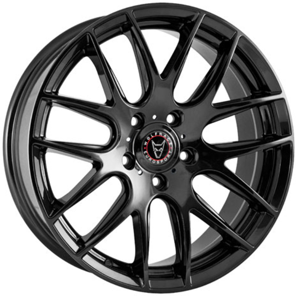 Large 8.5x18 Wolfrace Eurosport Munich Gloss Black