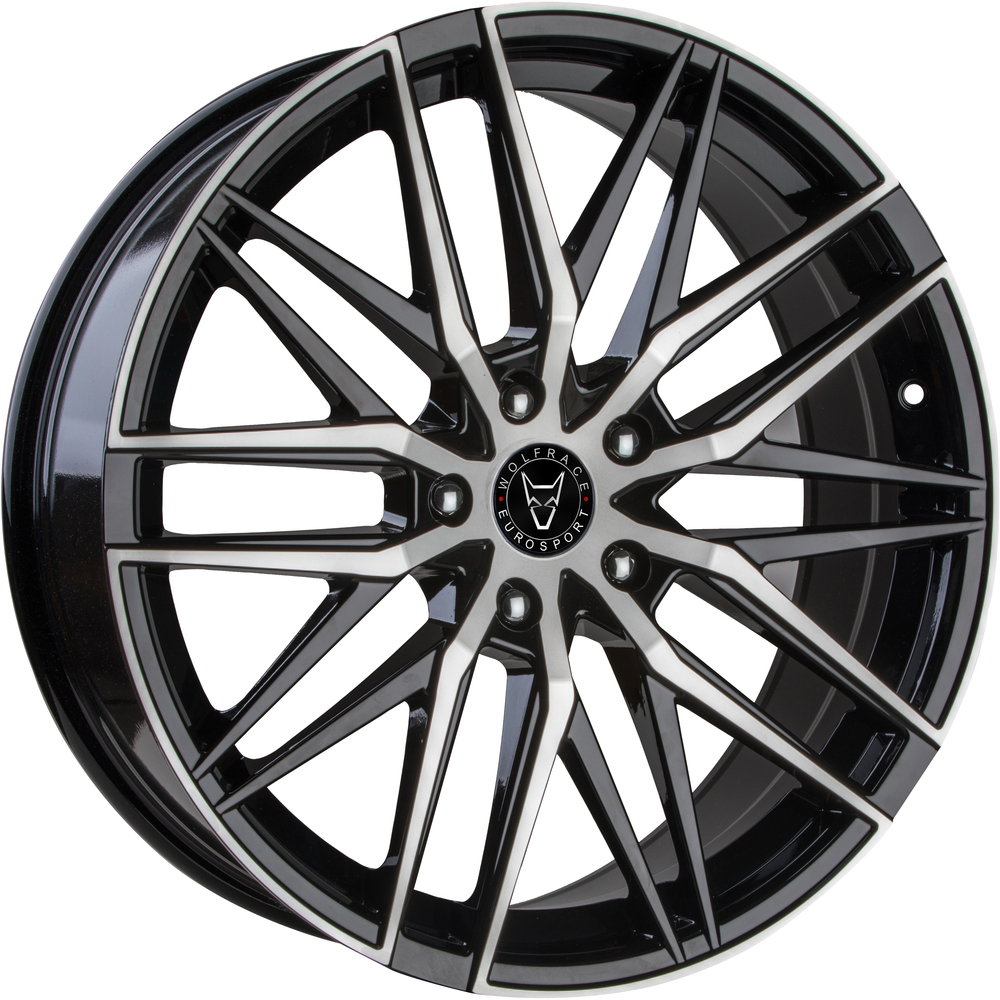 Large 8.5x20 Wolfrace Eurosport Sportline Gloss Black Polished