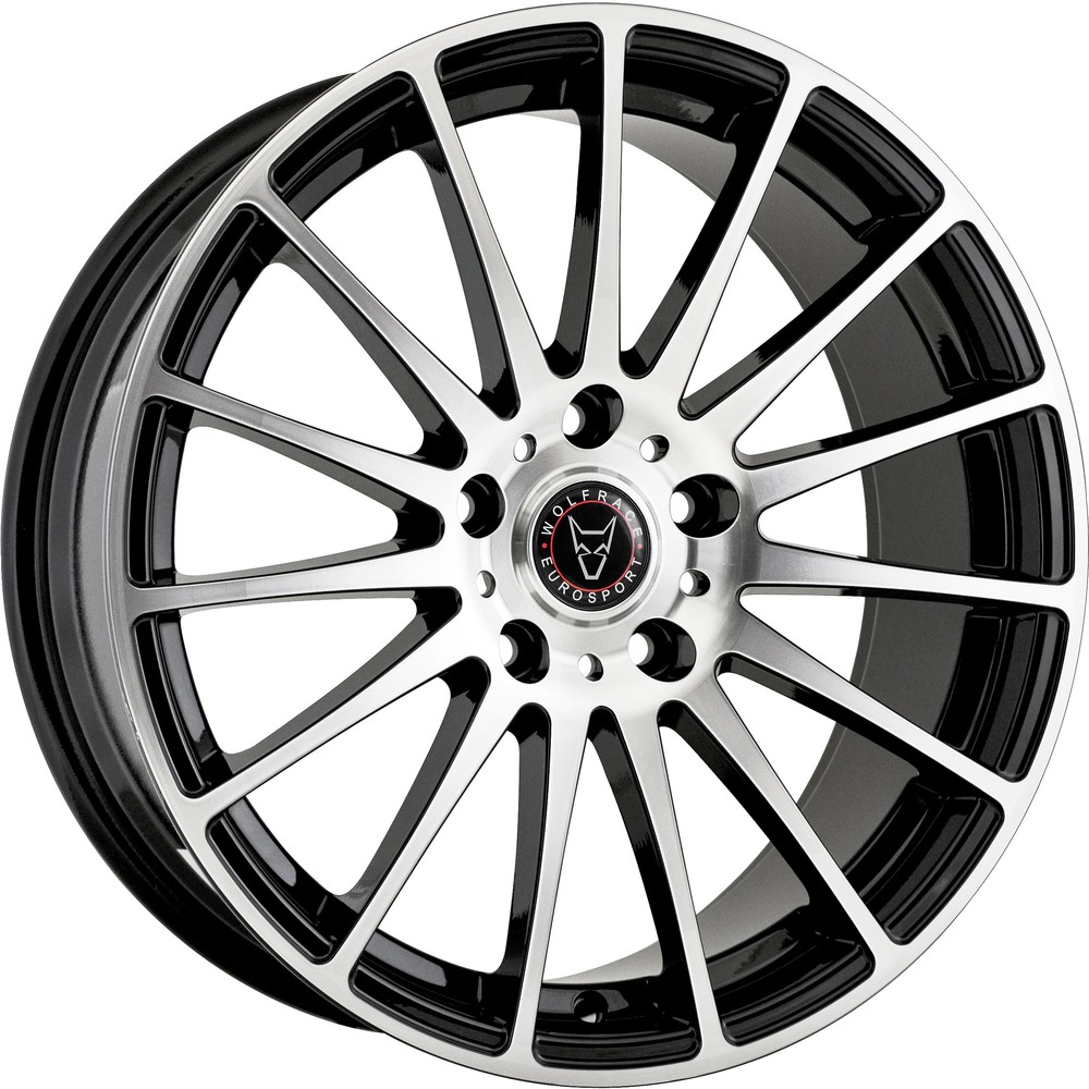 8.5x18 Wolfrace Eurosport Turismo Gloss Black Polished