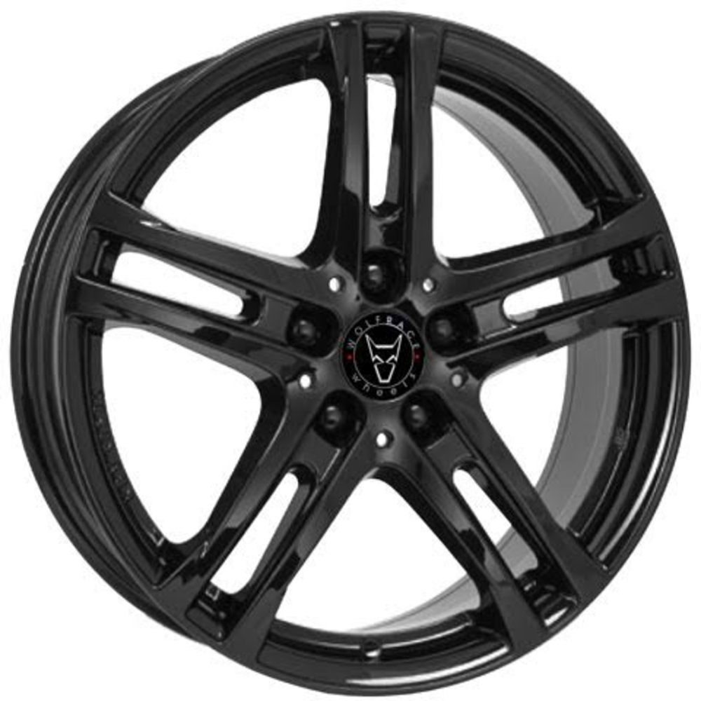 Large 6.5x16 Wolfrace Eurosport Bavaro Diamond Black