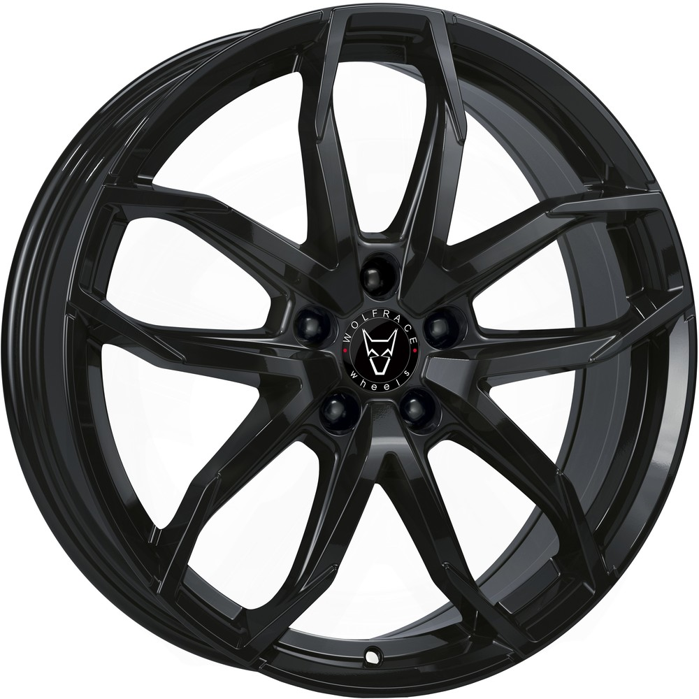 Large 6.5x17 Wolfrace Eurosport Lucca Diamond Black