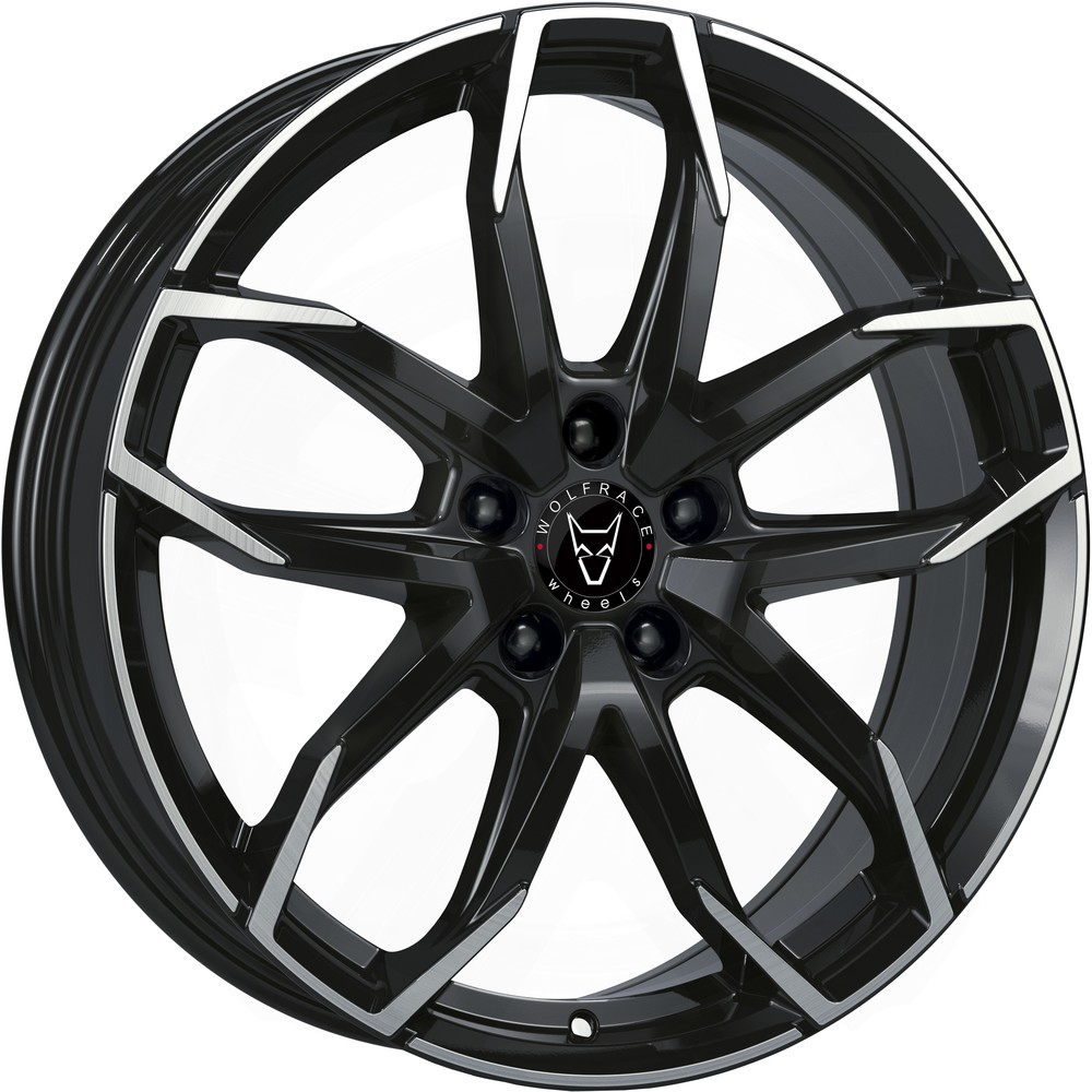 Large 8x19 Wolfrace Eurosport Lucca Diamond Black Polished