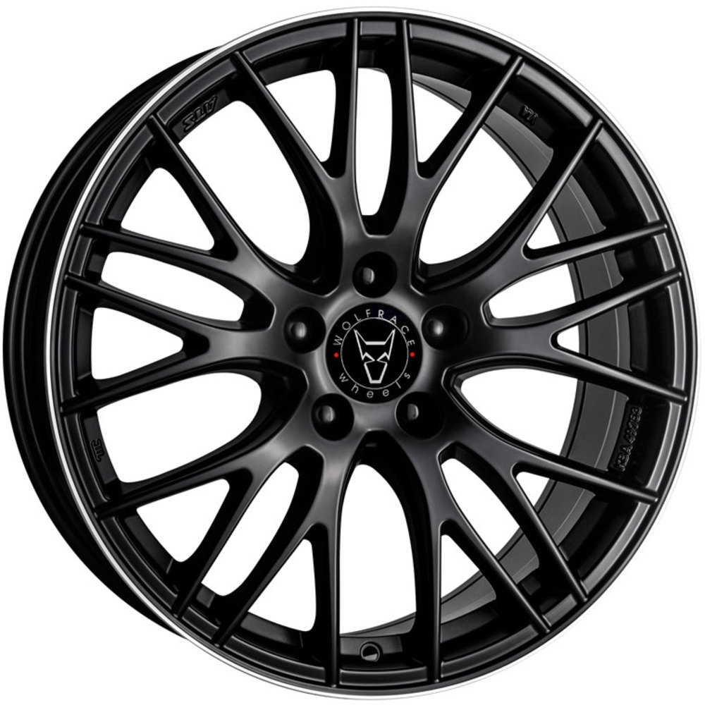 Large 8x17 ATS Perfektion Racing Black Polished