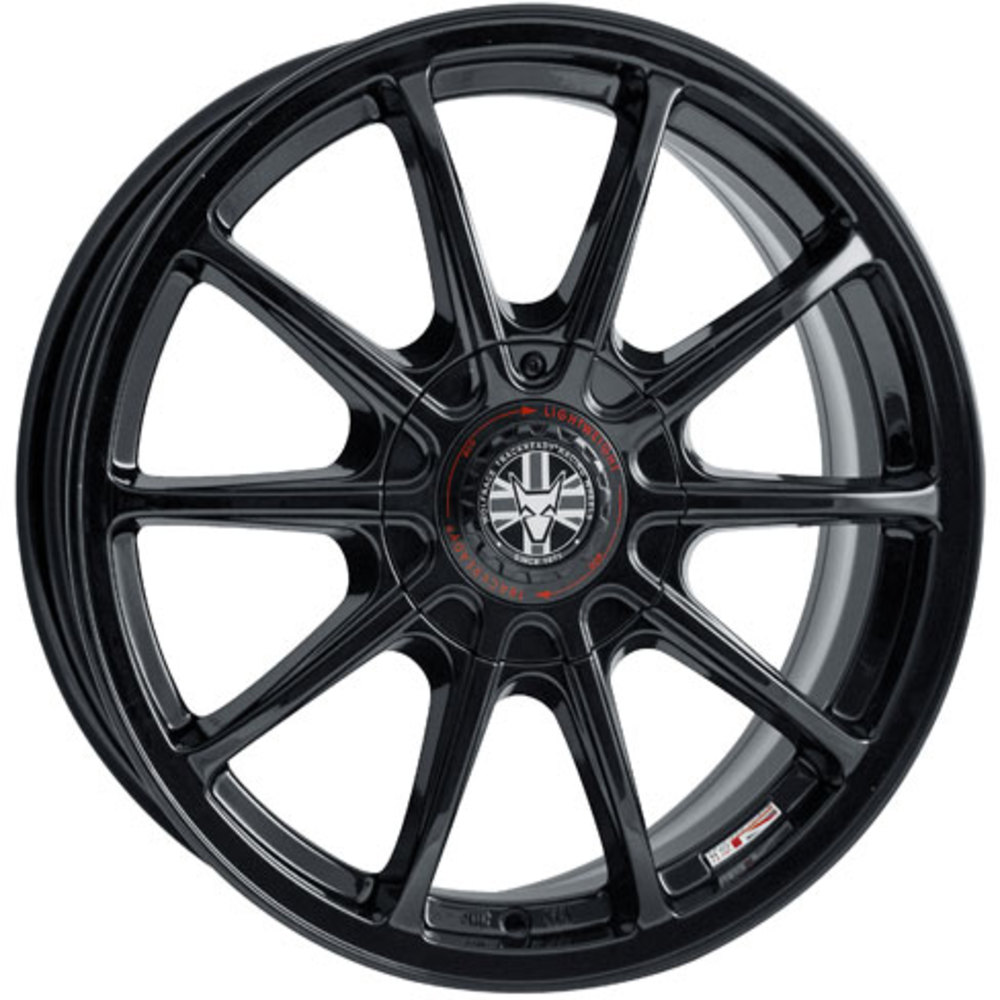 Large 8x18 Wolfrace TrackReady Pro Lite Eco 2.0 Gloss Black